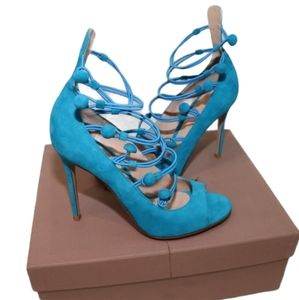 Gianvito Rossi Marquis Suede Sandals in Box